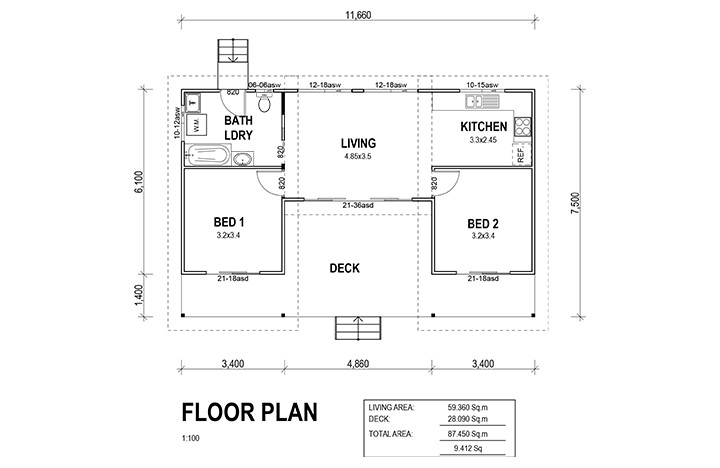 Two bedroom for Melrose house plan