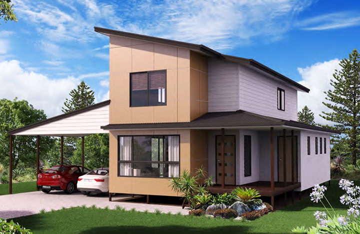 Three bedroom for Kit home designs nsw